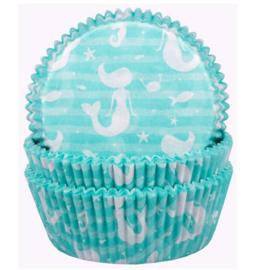 Zeemeermin cupcake vormen 60 stuks