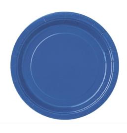 Borden blauw 23cm 8 stuks