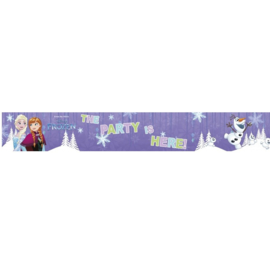 Frozen banner plastic 90x13cm