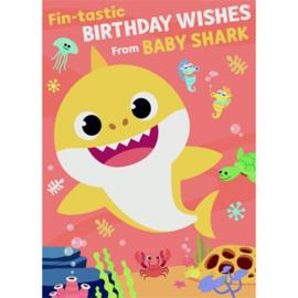 Baby Shark muziekkaart 22x16cm