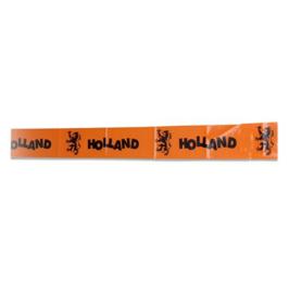 Afzetlint oranje voetbal 12m