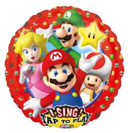 Super Mario muziek folie ballon 71cm