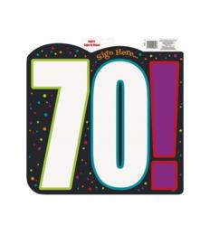 Schild verjaardag 70 jaar