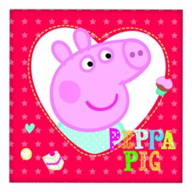 Peppa Pig servetten 16 stuks 33x33cm