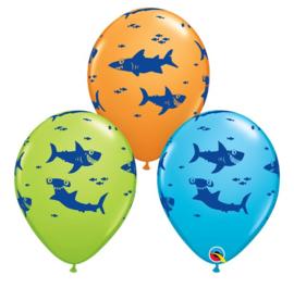 Happy Shark ballonnen 5 stuks