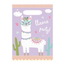 Lama feestzakjes 8 stuks