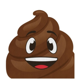 Poop Emoji servetten 16 stuks 33cm