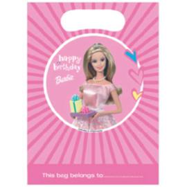 Barbie uitdeelzakjes plastic 6 stuks