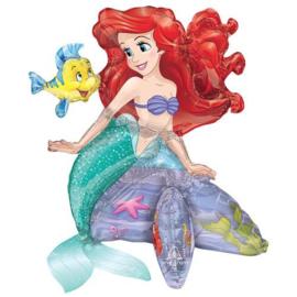 Ariel zeemeermin ballon op standaard 51cm