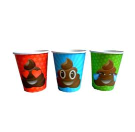 Emoji poop bekers 9 stuks