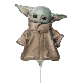 Star Wars Mandalorian folie ballon op stok 25cm