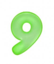 Opblaasbaar cijfer negen