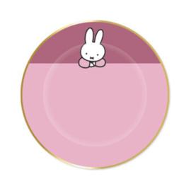 Nijntje borden roze 8 stuks 18cm