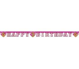 Paarden letterslinger Happy Birthday 1,8m