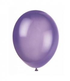 Ballonnen paars crystal 10 stuks