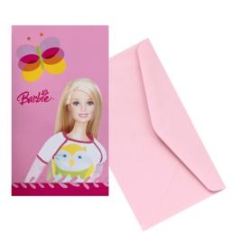 Barbie uitnodigingen 6 stuks