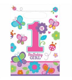 Verjaardag 1 jaar feestzakjes 8 stuks