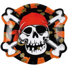 Piraten borden 6 stuks 23cm