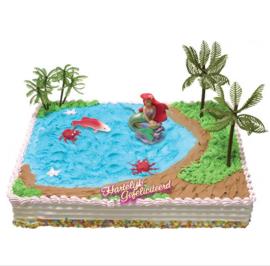 De kleine zeemeermin taart versiering set