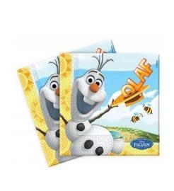 Frozen servetten verjaardag  Olaf op strand 20 stuks