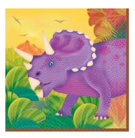 Dino servetten 16 stuks 25cm