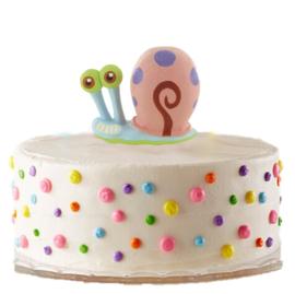 Spongebob Gary taart versiering 6cm