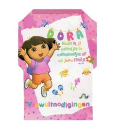Dora vouwuitnodigingen 32 blaadjes