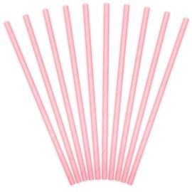 Rietjes roze papier 10 stuks 20cm