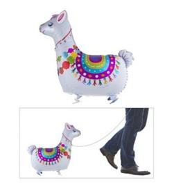 Lama alpaca walking folie ballon