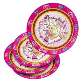 Barbie paard borden 6 stuks 23cm