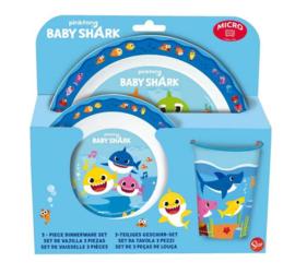 Baby Shark serviesset 3-delig