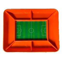 Oranje voetbalveld snack schaal 42x36cm