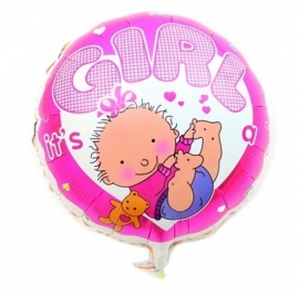 Baby folie ballon a girl