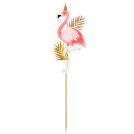Flamingo cocktailprikkers 12 stuks