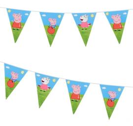 Peppa Pig vlaggenlijn slinger plastic 2,7m