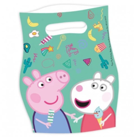 Peppa Pig feestzakjes 6 stuks