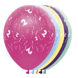 Twee jaar ballonnen 5 stuks