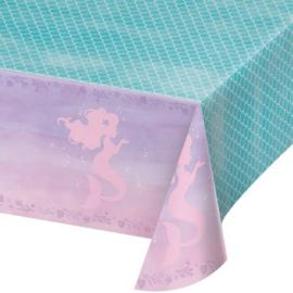 Zeemeermin plastic tafelkleed 1,4x2,6m