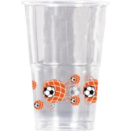 Oranje plastic bekers oranje 10 stuks