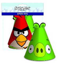 Angry Birds feesthoedjes 6 stuks