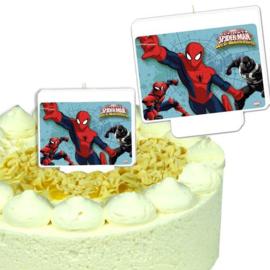 Spiderman taartkaars 9x8,3cm