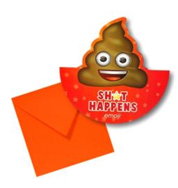 Emoji Poop verjaardagskaart