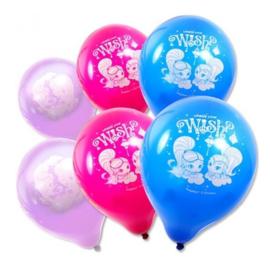 Shimmer and Shine ballonnen 6 stuks 23cm