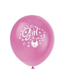 It's a girl ballonnen meisje 8 stuks