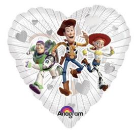 Toy Story folie ballon doorzichtig 45cm
