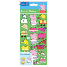 Peppa Pig stickers kleed Peppa aan