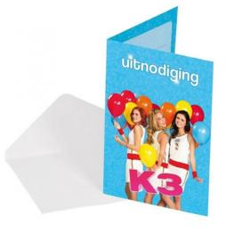 K3 uitnodigingen 8 stuks