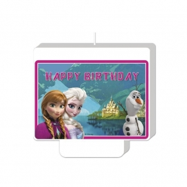 Frozen kaars Happy Birthday