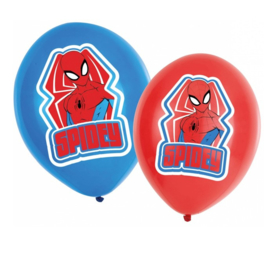 Spiderman ballonnen 6 stuks 27,5cm