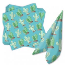 Cactus servetten 20 stuks 33x33cm